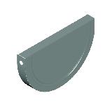 ВКЗЖ 130/0,5/Zn водосток круглый заглушка желоба