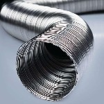 Воздуховод гофрированный алюминиевый d125/3 м