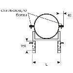 ККУ ГРУНТ 550-560/150/4,0/ножки/Ст.3 кронштейн круглый универсальный