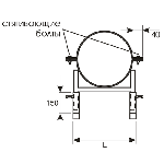 ККУ ГРУНТ 600-630/150/4,0/ножки/Ст.3 кронштейн круглый универсальный