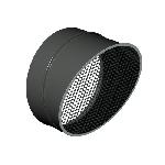 ВКВВГ 355/0,7/сетка 10*10/Zn вентиляция круглая выброс вентилятора горизонтальный