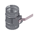ВКДК 225/0,7/Zn вентиляция круглая дроссель клапан