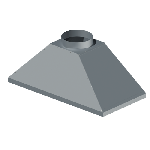 ЗВ 600/600/300/159/0,7/Zn зонт вытяжной