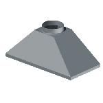 ЗВ 800/800/300/159/0,7/Zn зонт вытяжной