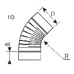 ВКО 100/45/5/0,5/гф/Zn вентиляция круглая отвод