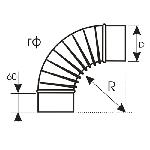 ВКО 160/90/16/0,5/гф/Zn вентиляция круглая отвод