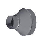 ВКП 450/280/150/0,7/Zn вентиляция круглая переход