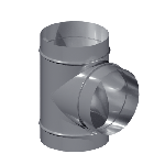ВКТР 140/125/90/0,5/Zn вентиляция круглая тройник