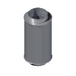 ВКШГ 125/600/0,7/Zn вентиляция круглая шумоглушитель