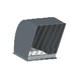 ВПВВВ 560/560/0,7/ф30/сетка 10*10/Zn вентиляция прямоугольная выброс вентилятора вертикальный