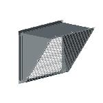 ВПВВГ 500/250/0,7/ф20/сетка 10*10/Zn вентиляция прямоугольная выброс вентилятора горизонтальный