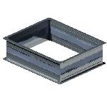 ВПВГ 600/350/0,5/ф20/Zn вентиляция прямоугольная вставка гибкая