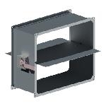 ВПДК 100/100/0,7/ф20/Zn вентиляция прямоугольная дроссель клапан