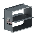 ВПДК 200/100/0,7/ф20/Zn вентиляция прямоугольная дроссель клапан