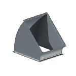 ВПО 100/250/45/0,5/ф20/Zn вентиляция прямоугольная отвод