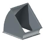 ВПО 150/150/45/0,5/ф20/Zn вентиляция прямоугольная отвод