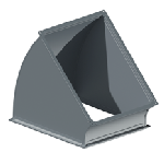 ВПО 200/150/45/0,5/ф20/Zn вентиляция прямоугольная отвод
