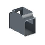 ВПТ 100/150/100/150/100/150/90/0,5/ф20/Zn вентиляция прямоугольная тройник