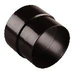 Муфта водосточной трубы d=80 коричневая
