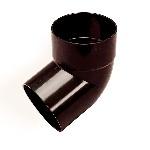 Отвод трубы 67 d=80 коричневый