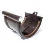 Соединение желоба с уплотнителем коричневый