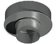 ДКАС 250/350/1,0/0,5/430/430/RW дымоход канал адаптер стартовый