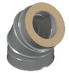ДКУОТ 130/230/45/0,5/0,5/Zn/Zn/RW дымоход канал утепленный отвод