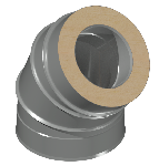 ДКУОТ 250/350/45/0,5/0,5/Zn/Zn/RW дымоход канал утепленный отвод