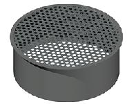 ДКЗП 140/0,5/Zn дымоход канал заглушка перфорированная