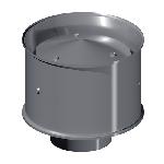 ДКД 140/0,7/Zn дымоход канал дефлектор