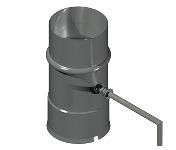 ДКДК 160/1,0/430 дымоход канал дроссель клапан