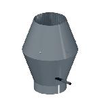 ВКНВК 630/0.9/Zn вентиляция круглая насадка с водоотводящим кольцом