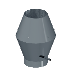 ВКНВК 800/0.9/Zn вентиляция круглая насадка с водоотводящим кольцом