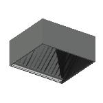 ЗВЛП 1210/800/400/249/1,0/430/4ЭЛ зонт вытяжной лабиринтный пристенный