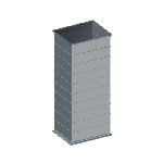 ВППУ 100/100/1250/0,5/фП20/Zn вентиляция прямоугольная прямой участок