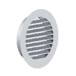 ВКРЖ 200/1,2/Zn вентиляция круглая решетка жалюзийная