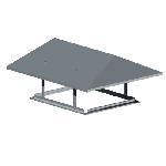 ВПФ 100/100/ф20/Zn вентиляция прямоугольная флюгарок
