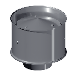 ДКД 100/0,7/Zn дымоход канал дефлектор