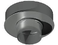 ДКАС 100/200/1,0/0,5/430/430/RW дымоход канал адаптер стартовый