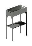 МС 600/300/150/955/3,0/Ст.3 мангал стационарный