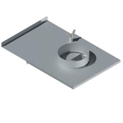 ВКШ 100/0,7/Zn  вентиляция круглая шибер