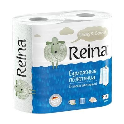 Полотенце бумажное Reina 2-х сл. 2 рулона/упак.